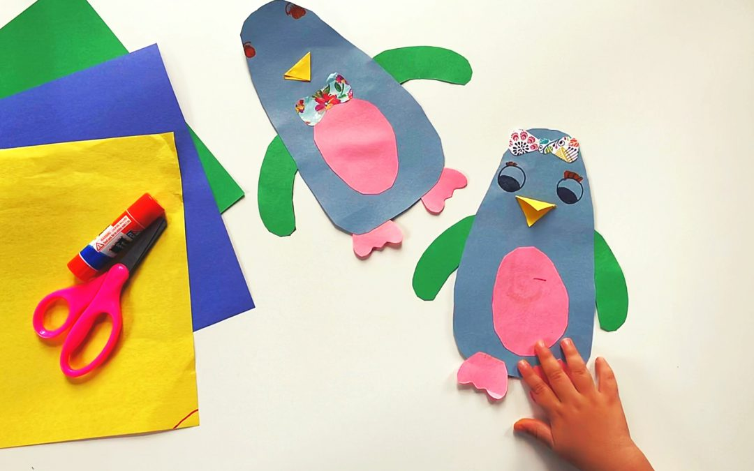 Paper Penguin boys and girls