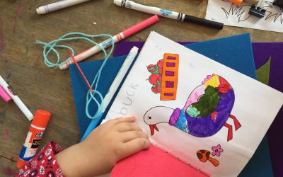 Crafting your own Felt Flap Book