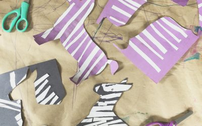 Zebra Crafting for World Animal Day